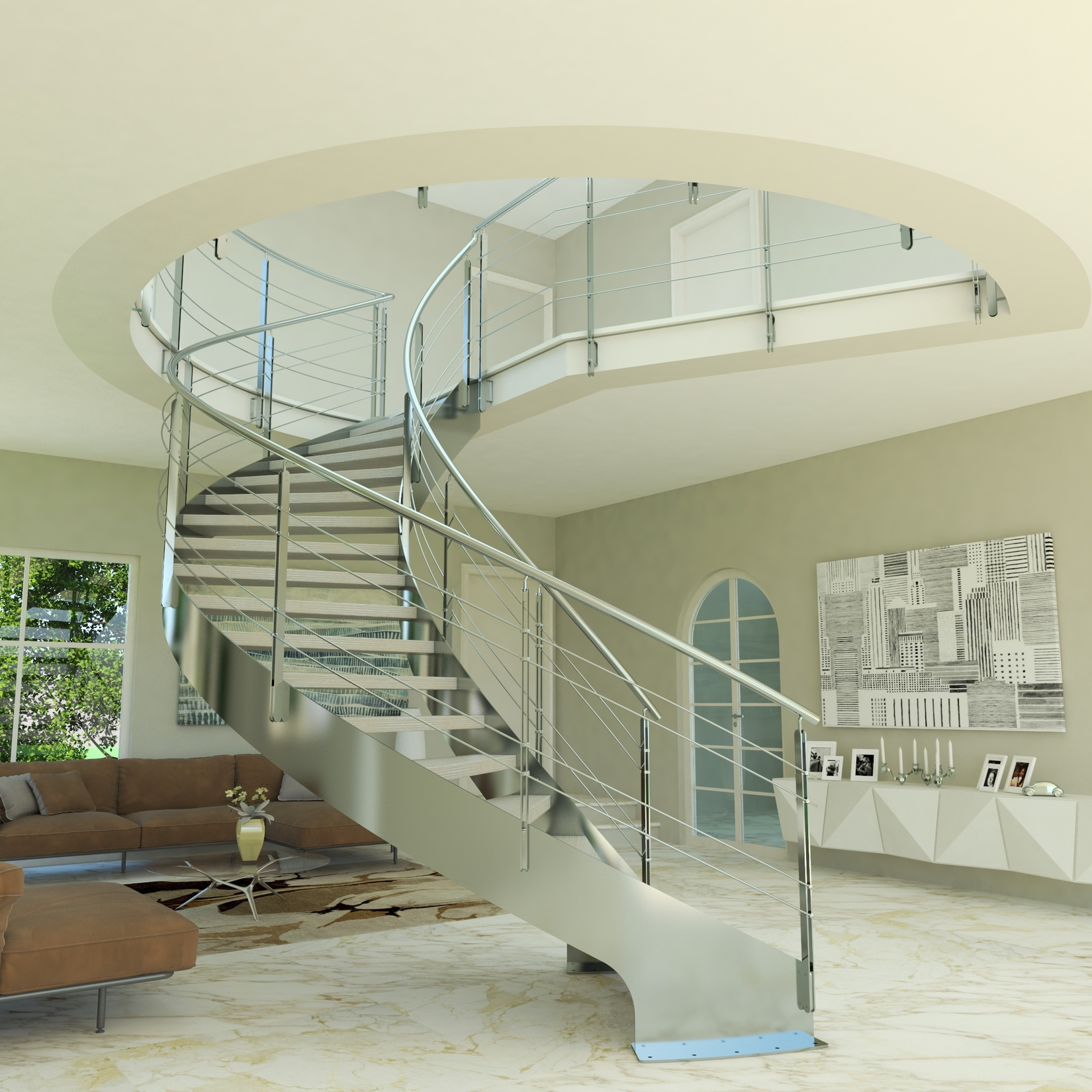 Steel Staircase Design Helika Inox Helical Staircase Cast Scale